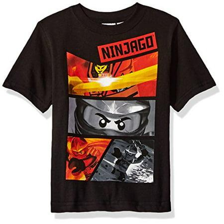Lego Ninjago Little Boys' T-Shirt, Black, 7 (Ninjago Black)