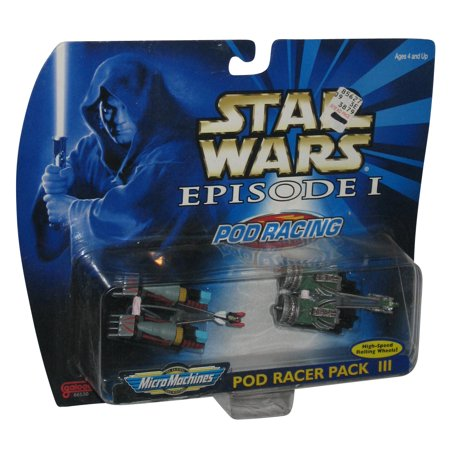 Star Wars Episode 1 Micro Machines Pod Racer III Galoob Toy Pack Set