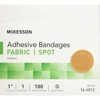 McKesson Adhesive Spot Bandage 16-4812 1 Inch Box of 100, Tan