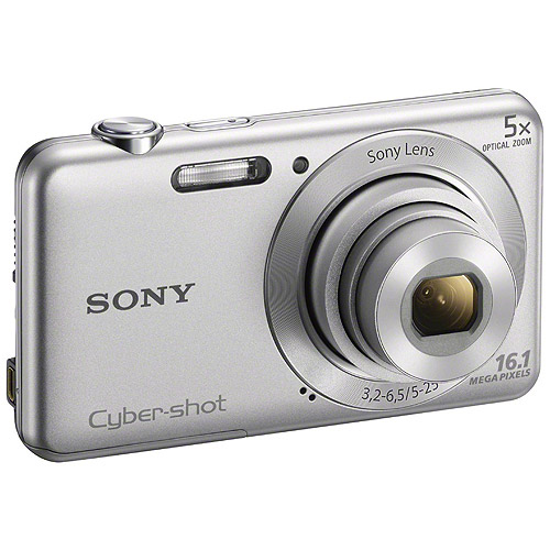 Sony DSC-W710 Silver Digital Camera with 16.1 Megapixels and 5x Optical Zoom