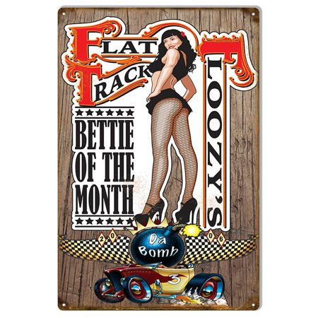 Flat Track Floozy's Pin Up Girl Race Car By Bernard Oliver 12
