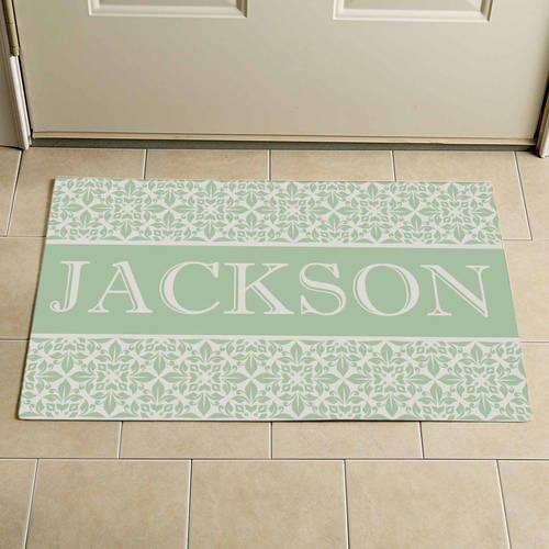 "Personalized Elegant Family Doormat, 17"" x 27"""