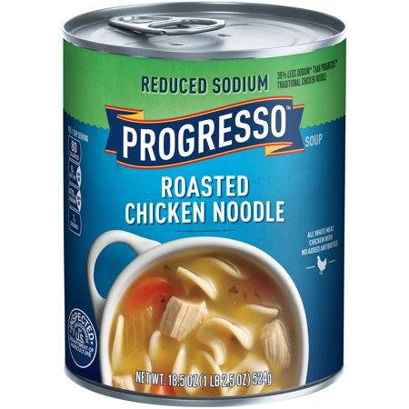 ... Reduced Sodium Roasted Chicken Noodle Soup 18.5 oz. Can - Walmart.com