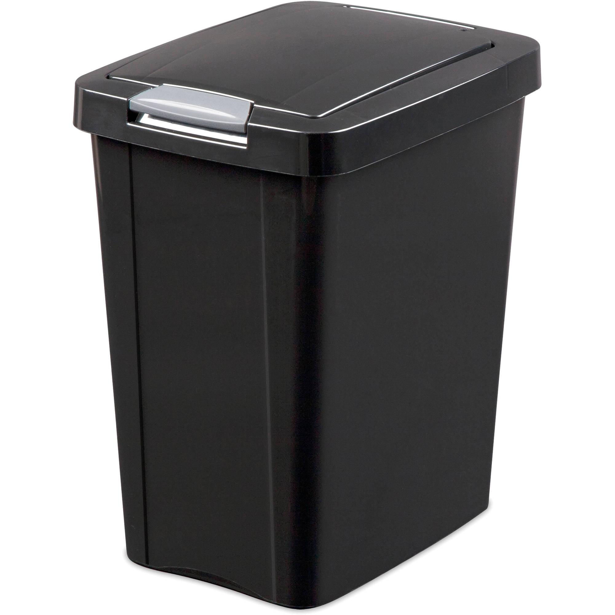 Ordinary Office Waste Basket Sterilite 7.5 Gallon Touch Top Wastebasket,  Black Walmart.com