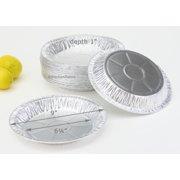 "9"" Disposable Aluminum Foil Pie Pan - Medium Depth - #D64 (Pack of 12)"