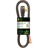 GoGreen Power 6' 4-Wire Dryer Cord, Black, 27306