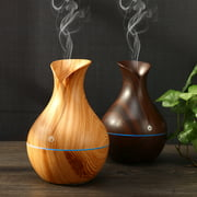 Cool Mist Humidifier, Wood Grain Portable Ultrasonic Aromatherapy Diffuser Cool Mist Humidifier with 7 Color LED Lights for Office Home Room Study Yoga Spa