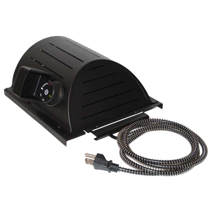 """AKOMA Dog Products Hound Heater Dog House Furnace Deluxe with Cord Protector, Black, 10"""" x 10"""" x 4.5"""""""