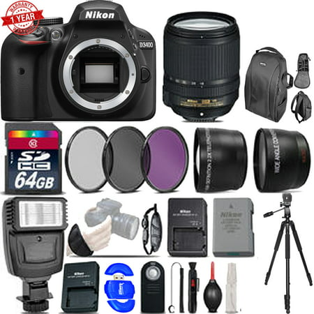 Nikon D3400 DSLR 24.2MP Camera w/ Nikon 18-140mm VR - Ultimate Saving Bundle