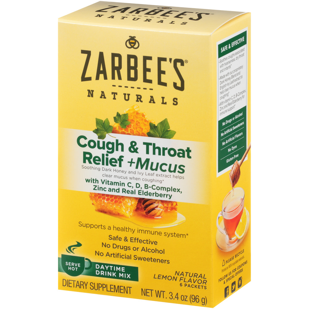 Zarbee S Naturals Cough Amp Throat Relief Mucus Daytime