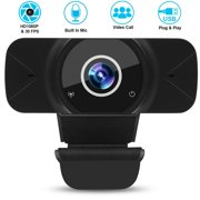 USB Webcam with Microphone, Fapreit Webcam 1080P Full HD Web Cameras for Computers Desktop PC Webcam, Plug and Play, Auto-Focus Web Camera for Video Calling, Conferencing, Recording, Gaming(W7)