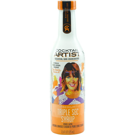 (2 Pack) Cocktail Artist Triple Sec Syrup, 375ml