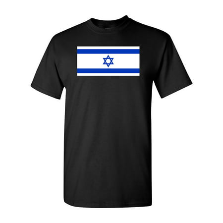 Country Flags T-shirt - Israel Country Flag Adult DT T-Shirt Tee