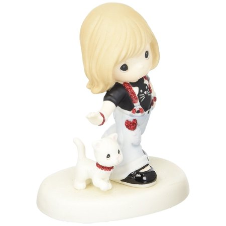 Dazzling Sparkles (152013 You Were Born to Sparkle, Bisque Porcelain Figurine, Strutting in her dazzling red suspenders, this fashion-forward Girl sports jewelry that coordinat.., By Precious Moments Ship from US)