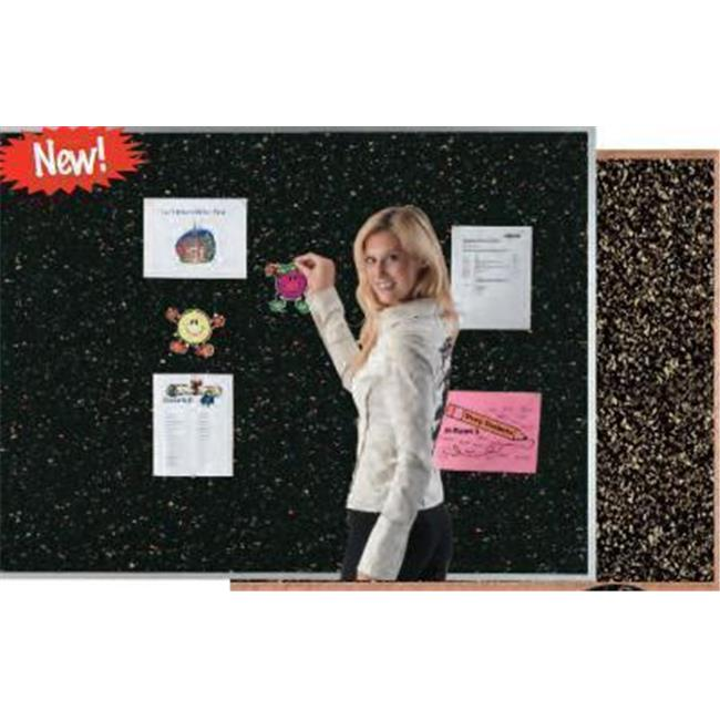 AARCO Products DRC48144GRY Aluminum Frame Grey Rubber Cork Bulletin Board