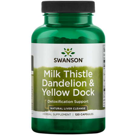 - Swanson Milk Thistle Dandelion & Yellow Dock 120 Caps