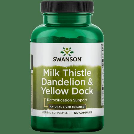 Timed Release 120 Cap (Swanson Milk Thistle Dandelion & Yellow Dock 120 Caps )
