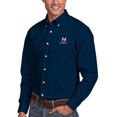 9a822e68 Antigua - Tony Stewart Antigua Dynasty Woven Long Sleeve Button-Down Shirt  - Navy - Walmart.com