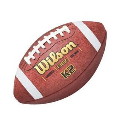 All Weather Leather Football - F1382B WILSON K2 PEE WEE SIZE LEATHER FOOTBALL