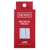 Laceez Kids No Tie Shoelaces - Flat Elastic Laces by the Size for all Casual Athletic Lifestyle Sneakers