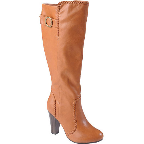 Brinley Co Womens' Round Toe High Heel Tall Boots
