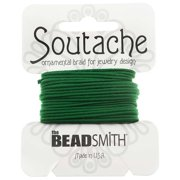 BeadSmith Soutache Braided Cord 3mm Wide - Dragon Green (3 Yards)