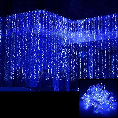 AGPtek 3Mx3M 300LED Linkable Fairy Curtain Lights Strings Connectable Lights 8 Lighting Modes