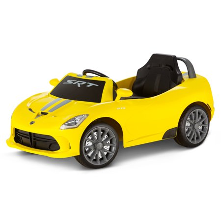 Dodge Viper SRT, 6-Volt Ride-On Toy by Kid Trax, single passenger, (Best Dodge Viper Year)