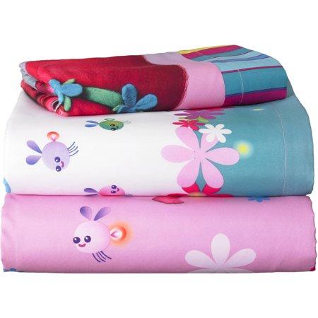 Trolls 'Show Me a Smile' Kids Bed Sheet Set