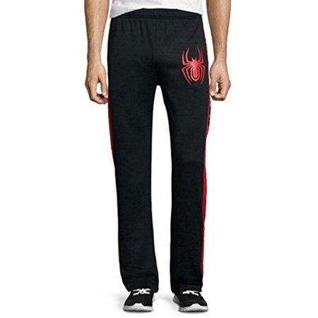 Marvel Spider-Man Men's Black Lounge Sleep Bottom Pajama Pants PJ(Small) (Spiderman For Adults)
