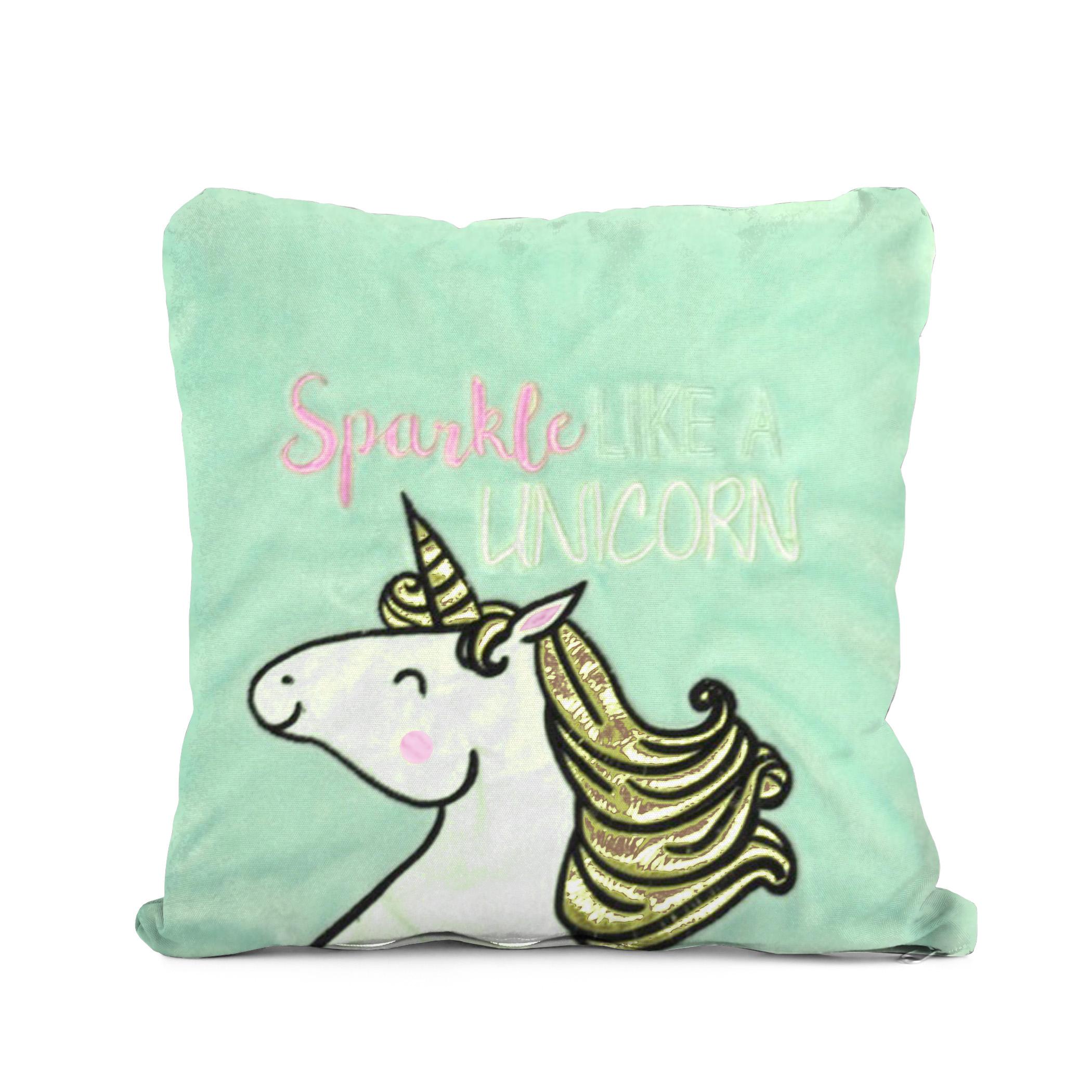 Better Homes & Gardens Kids Royal Plush Sparkle Like A Dreaming Unicorn Pillow