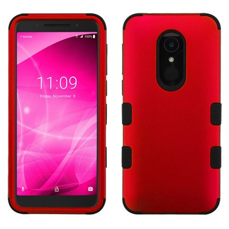 Alcatel Revvl 2, T-Mobile Revvl 2 Phone Case Tuff Hybrid Shockproof Impact Armor Rubber Dual Layer Hard Soft Protective Bumper Hard Cover Rubberized RED Case for Alcatel T-Mobile Revvl 2, Revvl 2