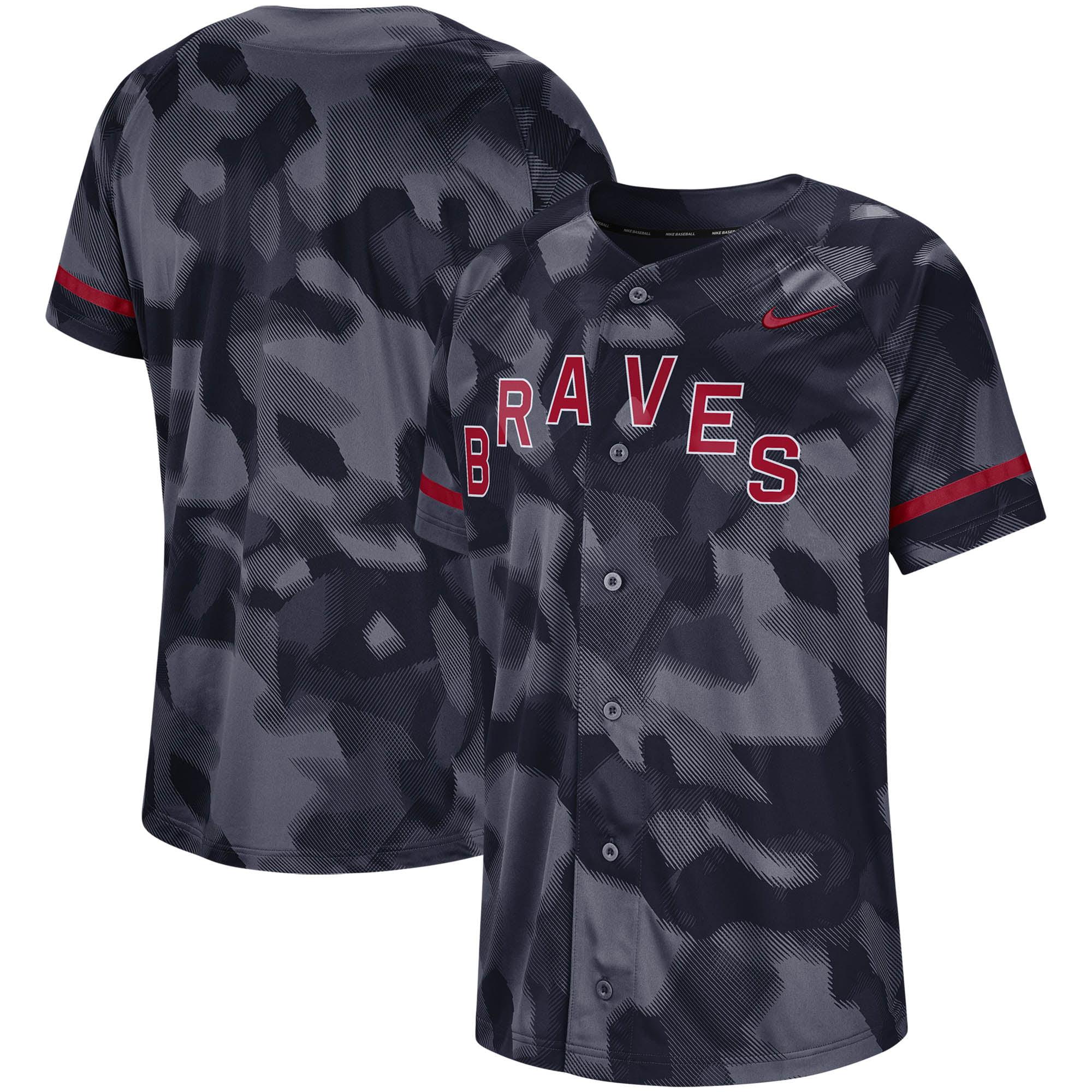 Atlanta Braves Nike Camo Jersey - Navy