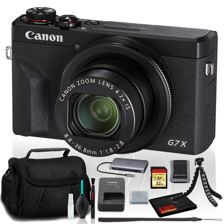 Canon PowerShot G7 X Mark III Digital Camera (Intl Model) Includes 32GB SD Kit