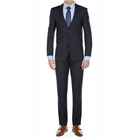 Braveman Men's Slim-Fit 2pc (Charcoal Pinstripe Suit)