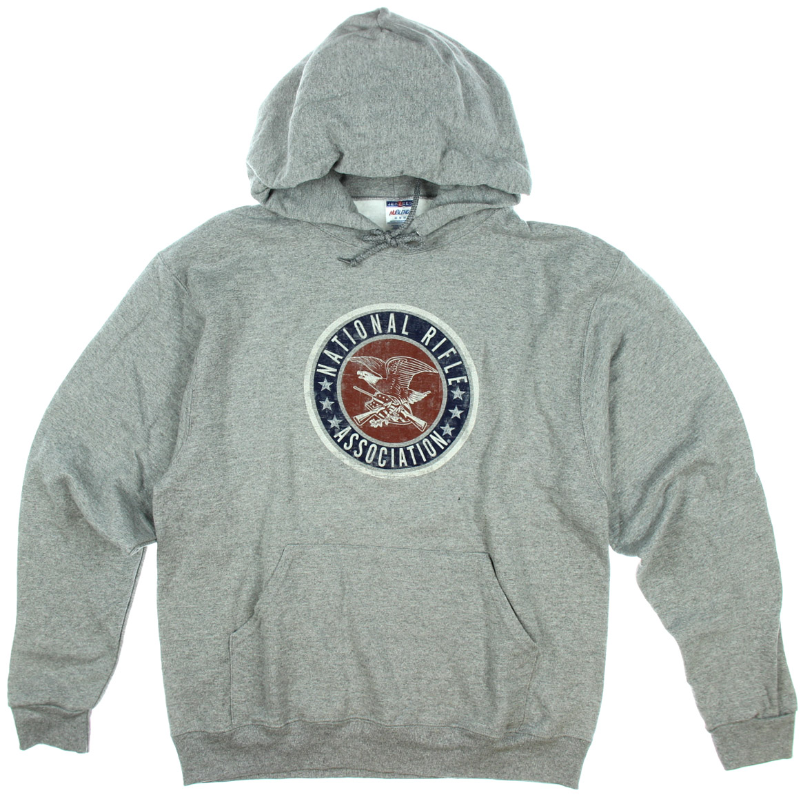 National Rifle Association Mens Grey Hoodie