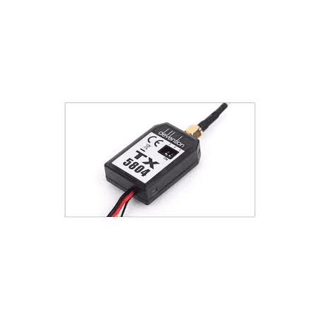HobbyFlip 5.8GHz Video Transmitter Black FPV TX5804 Compatible with RC