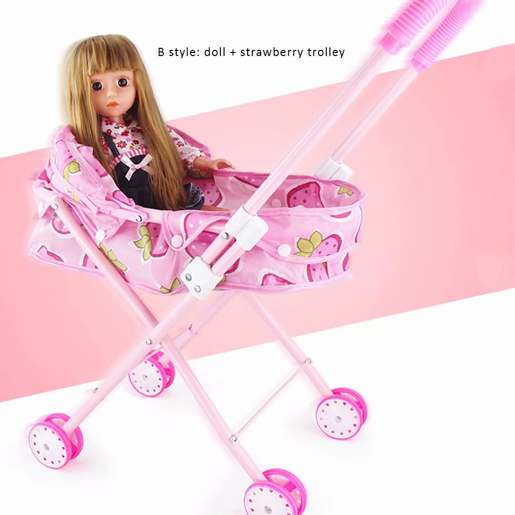 Baby Stroller Precise Doll Stroller Doll Trolley Toy Simulated Stroller For Indoor Outdoor Use Mother & Kids