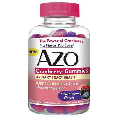 AZO Santé des voies urinaires Cranberry gélifiés, mixte Berry 72 ch (pack de 2)