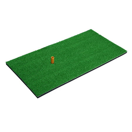 Golf Practice Hitting Mat Rubber Tee Holder Realistic Grass Putting Mats Portable Outdoor Sports Golf Training Turf Mat Golf Tee Mats