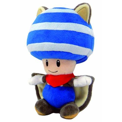 "Plush - Nintendo - Super Mario - Flying Squirrel Toad 8"" Blue New Soft Doll 1315"