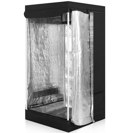 Costway Indoor Grow Tent Room Reflective Hydroponic Non Toxic Clone Hut 6 Size (24''X24''X48'') (Grow Tents 4x4 Package)