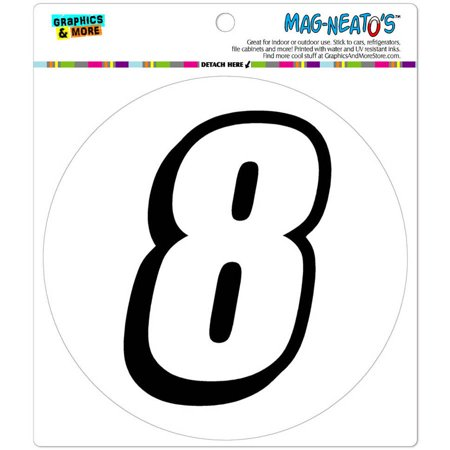 8 Number Eight Automotive Car Refrigerator Locker Vinyl