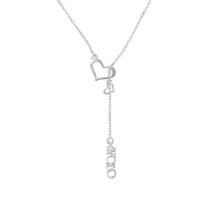 Heart Lariat (Silvertone Small YOLO - In My Heart Lariat)