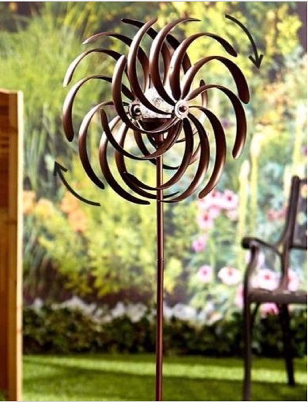 Spiral solar lights trolly shelf