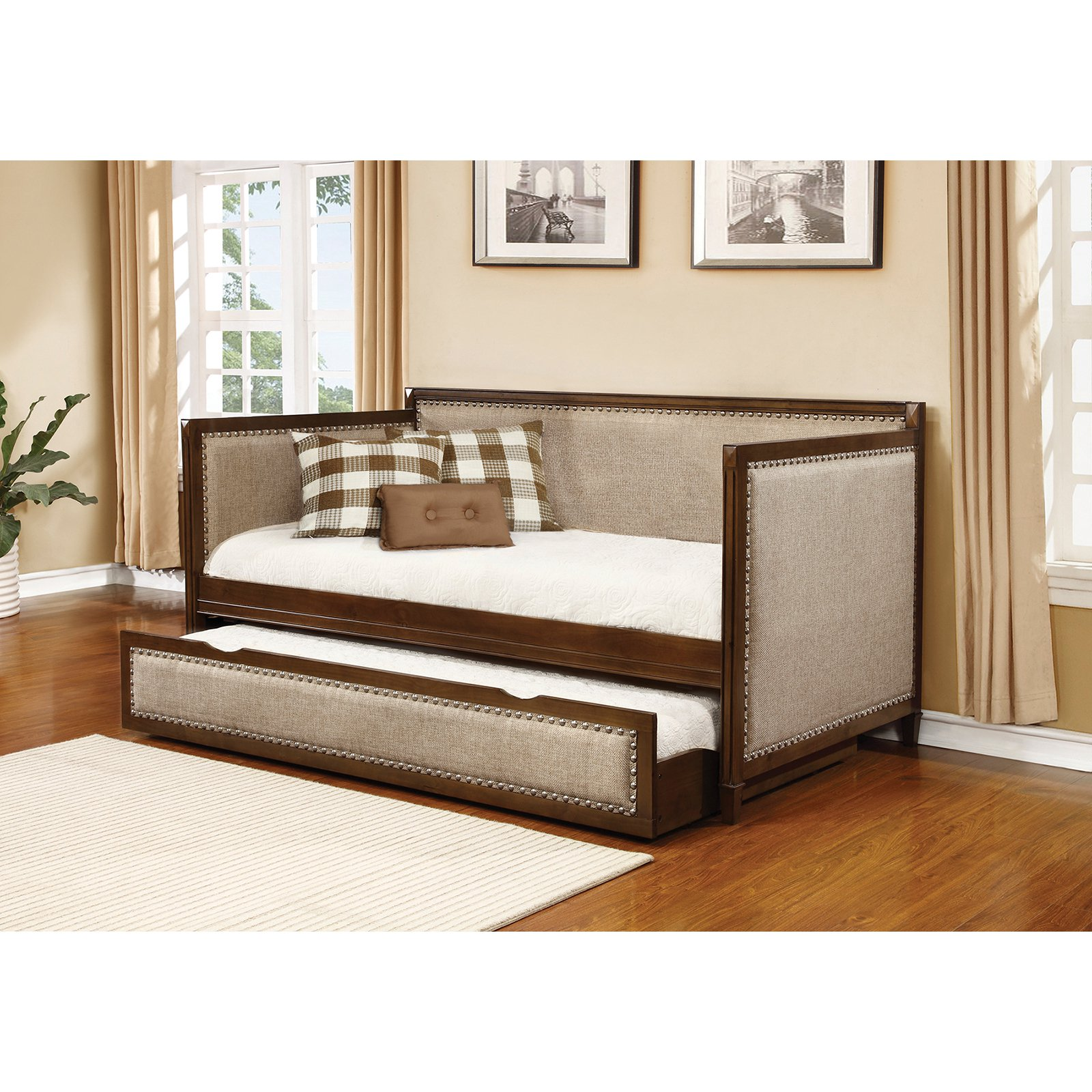 Coaster Furniture Carriere Upholstered Daybed with Trundle