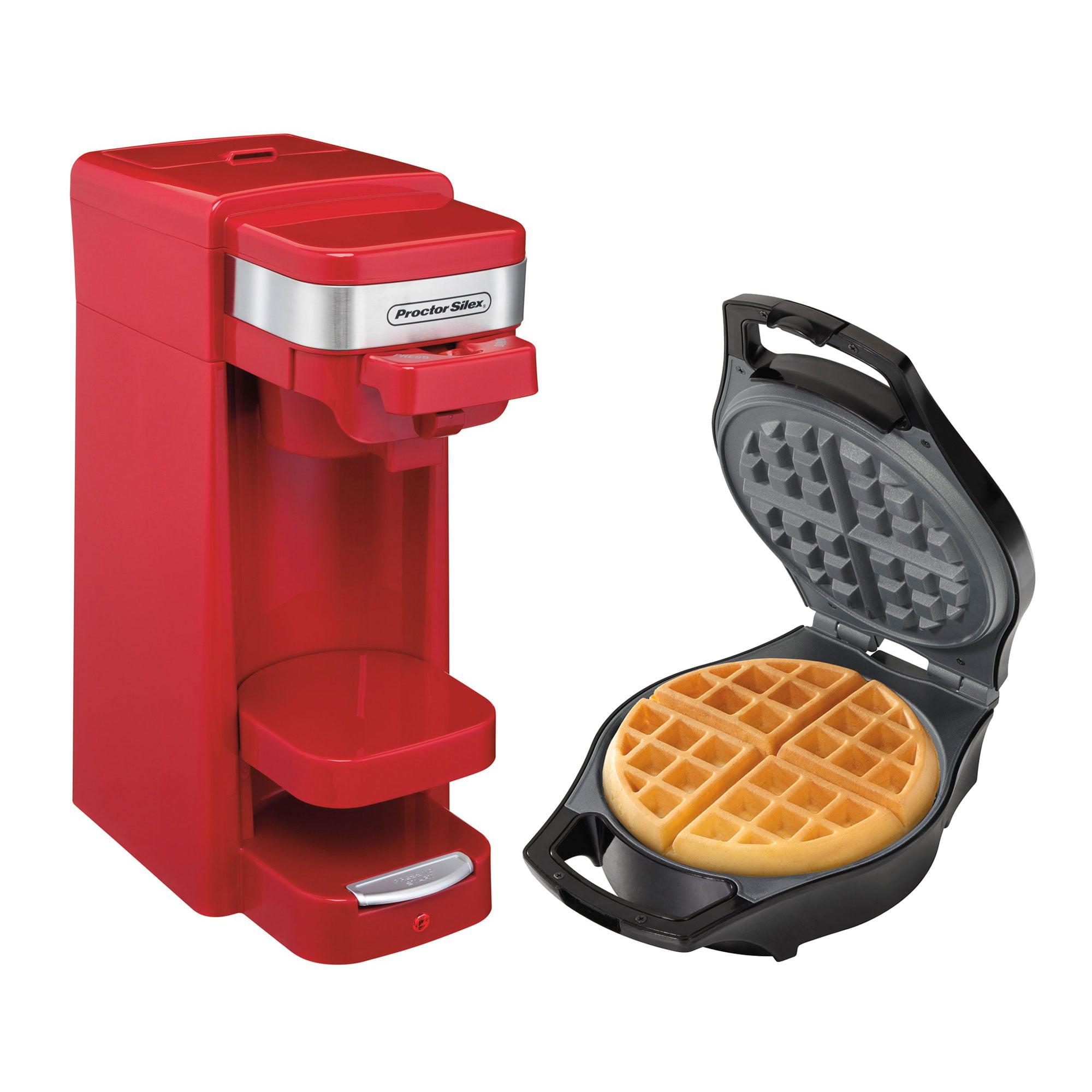 Proctor Silex FlexBrew Single Serve Ground Coffee Maker w/ Belgian Waffle Maker