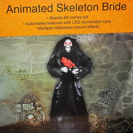 Life Size Animated Skeleton Bride of Vampire 63 Halloween Prop - Life Size Skeleton Halloween