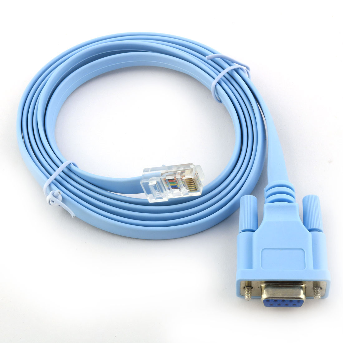 RS232 DB9 9 Pin Female to Male RJ45 8P8C Plug Extension Cable 1.8M Long