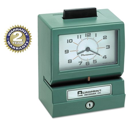 Acroprint Model 125 Analog Manual Print Time Clock with Date/0-23 Hours/Minutes -ACP01107040A Acroprint 175 Time Clock